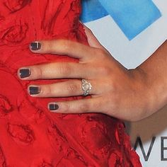 Camila Alves' rose-cut gemstone ring surrounded by smaller diamonds