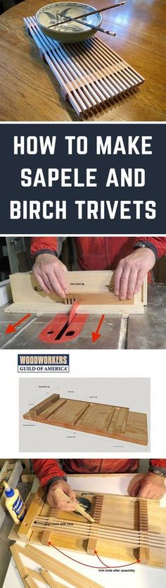 Here's a simple project that looks great, and could easily burn up some of that scrap wood you've been hoarding for years. This elegant trivet will grace your table, and you can be sure friends will be asking for trivets for their tables, too.