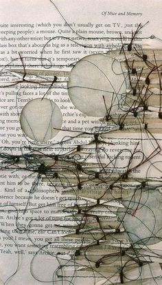 mixed media --- Shellie Holden ~ As big as a television, 2010 (collaged, stitched and cut paper 'textiles') Mixed Media Collage, Collage Art, Altered Books, Altered Art, A Level Art, Handmade Books, Mark Making, Mix Media, Art Plastique