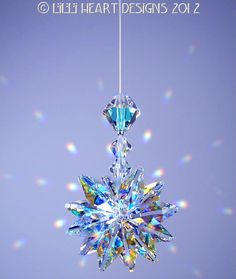 m/w Swarovski Crystal Aurora Borealis Suncatcher *LILY* Octagons Star Car Charm Ornament Starburst by Lilli Heart Designs