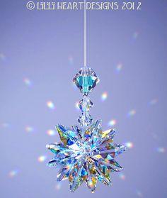 m/w Swarovski Crystal Aurora Borealis Suncatcher *LILY* Octagons Star Car Charm…
