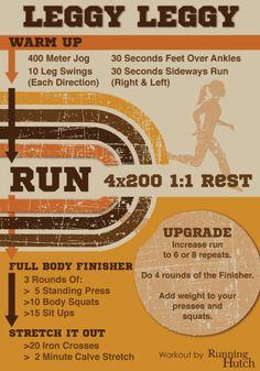 Leggy Leggy Running Workout