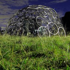 Bike wheels dome at Small World 2010 by Nick Sayers, via Flickr