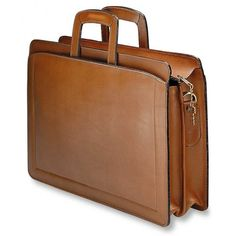 c74a3d9a1a05 Jack Georges Belting Double Gusset Top Zip Leather Briefcase. Leather  Laptop CaseLeather ...