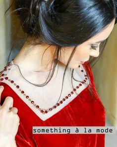 Tendance robes de soirée : (notitle) Kurti Neck Designs, Neckline Designs, Pakistan Fashion, Abaya Fashion, Stylish Dresses, Beaded Embroidery, Kaftan, Churidar, Peaches