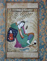 Ali Riza I-Abbasi - Lady with a mirror India And Pakistan, Teaching History, Central Asia, Islamic Art, Art And Architecture, Asian Art, Iran, Art History, Persian