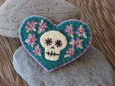 Image result for felt skeleton brooch