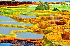 Dallol volcanic crater, Ethiopia