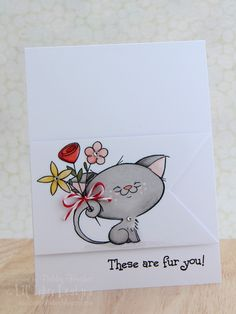 Lil' Inker Designs Cute Cat card - bjl(try the Kraftin' Kimmie cat for this card)