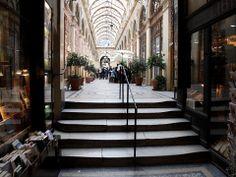 GALERIE VIVIENNE Galerie Vivienne, Grand Paris, Pedestrian, Walkway, Arcade, Gallery, Breezeway, Flatware, Parisians