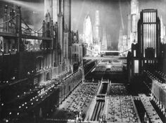 "Dieselpunk: future city, from the movie ""Just Imagine"" 1930."