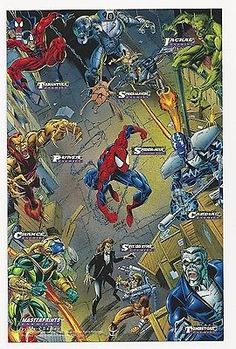 """1994 #marvel #""""spider-man"""" masterprints #enemies i print card by mark bagley,  View more on the LINK: http://www.zeppy.io/product/gb/2/361099483521/"""