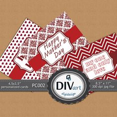 PRINTABLE Personalized Cards for Valentine's Day - by DIVart on Etsy