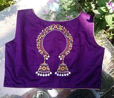 Unique blouse designs by studio prothoma new blouse patterns. Blouse Back Neck Designs, Hand Work Blouse Design, Kids Blouse Designs, Stylish Blouse Design, Fancy Blouse Designs, Bridal Blouse Designs, Saree Blouse Designs, Aari Work Blouse, Maggam Work Designs