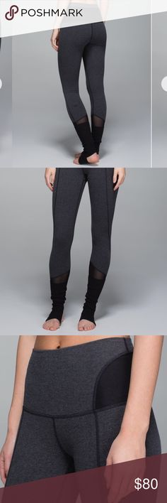 Lululemon 🍋 Devi Yoga Tights Heathered Black Lululemon Devi yoga pants  Absolutely adorable pair of yogas- pretty detailing throughout and buttery soft!  Size 4- rip out tag is attached.  Excellent used condition only worn a handful of times. No major flaws!  Smoke free home!  Freshly laundered Thanks for your interest!  Be sure to check out my closet for more Lululemon🍋 New items added frequently😊 lululemon athletica Pants Leggings