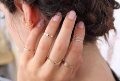 Catbird in Williamsburg is a one-stop shop for stackable rings in various sizes and widths.