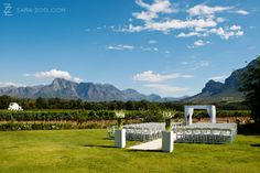 Wedding ceremony at Vrede en Lust