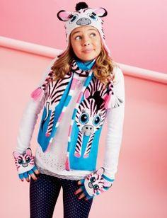 Critter Knit Zebra Earflap Hat Very cute accessories