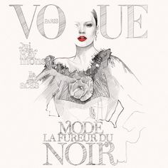 Instagram photo by @fashionillustration | Fashion Illustration | Vogue Cover | Pencil Drawing | Model
