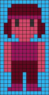 Ruby Steven Universe Perler Bead Pattern