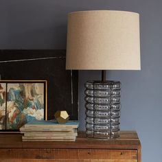 Linear Blown Glass Table Lamp