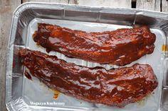 Żeberka w sosie BBQ - Magazyn Kuchenny Coleslaw, Żeberka Bbq, Grilling, Bacon, Meat, Breakfast, Recipes, Food, Morning Coffee