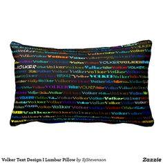 Volker Text Design I Lumbar Pillow