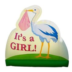 Bebe Sounds 'It's a Girl!' Stork Inflatable