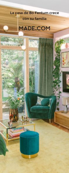 How Bo Fentum's home grew with her family Palm Springs, Liberal Policies, Kingston Upon Thames, Leafy Plants, Step Inside, Decoration, House Tours, Interior Inspiration, Valance Curtains