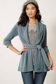 Collared Jersey Wrap Sweater - anthropologie.com