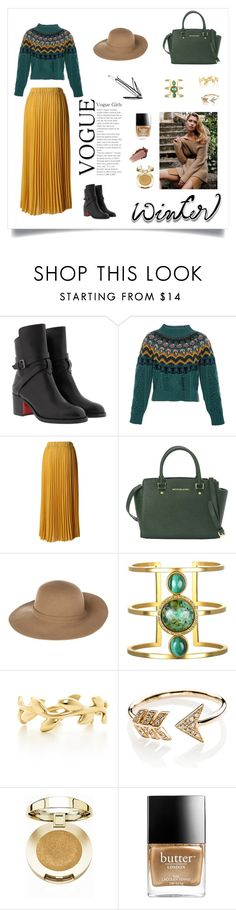 """""""#sundance🎥"""" by zbrodewicz ❤ liked on Polyvore featuring Christian Louboutin, Temperley London, Chicwish, MICHAEL Michael Kors, Armani Jeans, Tiffany & Co., EF Collection, Milani and Butter London"""