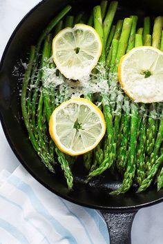 Parmesan Lemon Asparagus Skillet - Enjoy this quick and easy Parmesan Lemon…