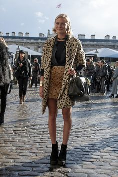 Double the leopard print means double the statement power.