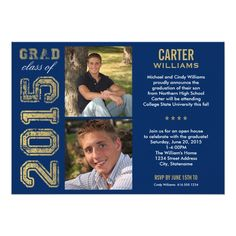 Senior graduation announcement template for photographers 013 graduation party invitation class of 2015 filmwisefo