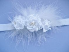 Holy Communion Christening or Baptism Headpiece in white