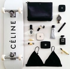 Celine/ Chanel/ Flat lay/ Makeup/