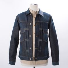 Visvim SS 101 Jacket Non-Washed - The beautiful heritage inspired 101 Denim Jacket. This piece is constructed from a rare, Japanese 12oz blue selvedge denim, exclusively manufactured for visvim. Premium materials, and amazing detailing throughout. Essential piece.