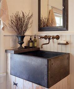Unique sink looks like a cabinet @Brynn Burdick #sink