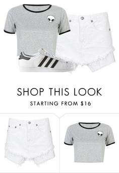 """""""Untitled #49"""" by awsomekatie ❤ liked on Polyvore featuring R13, WithChic and adidas"""