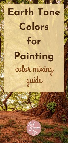Learn all about earth tone colors - what they are and how to mix them in this oil paint mixing guide! Discover how to mix earth tones for your paintings with this step by step oil painting tutorial. #howtomixearthtonecolors #howtomixearthtones #earthtonecolorsforpainting #paintingwithearthtones #learntopaintwithearthtones Oil Painting For Beginners, Painting With Oils, Oil Painting Easy, Earth Tone Colors, Earth Tones, Learn Art, Learn To Paint, Color Mixing Guide, Mixing Colours