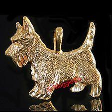 'SCOTTIE DOG' 24k Gold Layered Charm Pendant + LIFETIME GUARANTEE