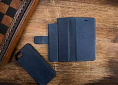 Blue Leather iPhone 7 Case, iPhone 7 Plus Case, iPhone 7 Wallet, iPhone 7 Wallet Case, iPhone 7 Plus Iphone Leather Case, Iphone Wallet Case, Iphone 7 Plus Cases, Phone Case, Apple Watch Bands, Money, Fit, Shop, Cards