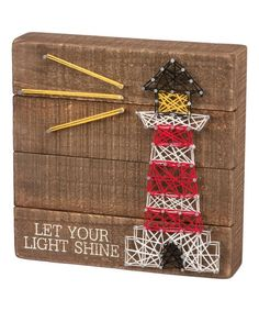 """Let your light shine"" Lighthouse string art #stringart #ad #wallart #walldecor #homedecor #giftideas #birthdaygifts #lighthouse"