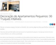 Menos espaço e mais praticidade é uma tendência cada vez mais forte. Confira nossas dicas para decorar um apartamento compacto no post de hoje do nosso blog! Corre lá! ☺ www.rokrisa.com.br/blog