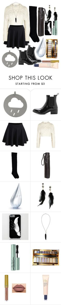 """Rainy Days"" by love-is-the-best-medicine ❤ liked on Polyvore featuring Jeffrey Campbell, WithChic, DKNY, Dorothy Perkins, La Prairie, Betsey Johnson, Ann Demeulemeester, Too Faced Cosmetics, LASplash and Estée Lauder"