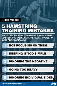 It's time to stop neglecting your hamstrings. Check out this article for common hamstring training mistakes, how to fix them, and a hamstring workout!