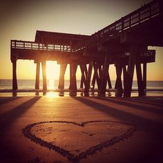 Take a romantic stroll and watch the sun rise on Tybee Island!