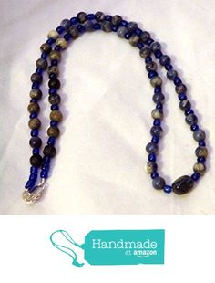 Natural denim lapis lazuli and cobalt blue glass beaded necklace (833) from Celtic Mink Handmade Jewelry and Stuff https://www.amazon.com/dp/B01GZ6G0RE/ref=hnd_sw_r_pi_dp_a5CxxbHBP7CK9 #handmadeatamazon