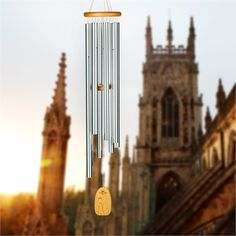 The Gregorian Baritone Wind Chime is tuned to a medieval scale and echoes the vocal music of the gothic era. Part of the Woodstock Chimes Signature Collection. Fairy Statues, Gnome Statues, Garden Statues, Trophy Shop, Evergreen Enterprises, Cat Statue, Hens And Chicks, Flower Fairies, Woodstock