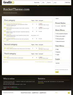 Graffito phpBB3 Style, Premium phpBB3 theme from RocketTheme